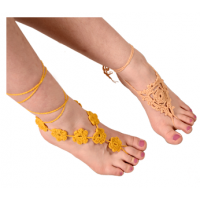 Wild Mountain Honey Crochet Barefoot Sandals