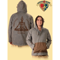MEN'S WOVEN COTTON 3 BUTTON HOODIE