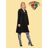 AARI EMBROIDERED VELVET LONG JACKET