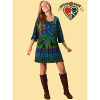 Tye Dye Stretchy Velvet Short Dress