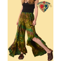 Tye Dye Stretchy Layered Faux Wrap Pants