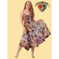 Lady Madonna Tye Dye Viscose Sundress