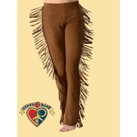 Vegan Hippie Chic Stretchy Pseudo Suede Pants