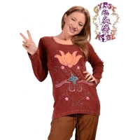 LOTUS OF LOVE BLANKET STITCH TOP