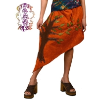 TREE OF LIFE COTTON ANGLED SKIRT / TOPPER