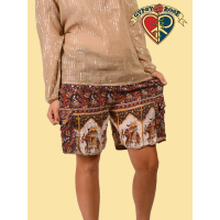 SUMMER FESTIVAL RAYON INDIAN PRINT CARGO SHORTS