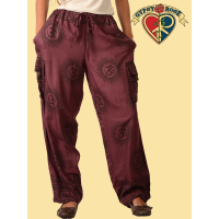 Om Vibration Medium Weight Unisex Viscose Cargo Pants