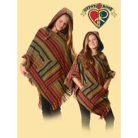 Born To Be Wild Hooded Gheri Fringed Poncho