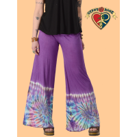 Midnight Hour Layered Tie Waist Tye Dye Flare Pants