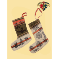 Himalayan Hand Block Print Holiday Stocking