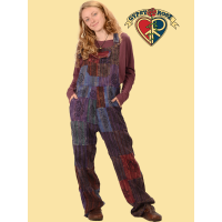 Everyday People Patchwork Hand Block Print Overalls