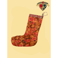 Recycled Sari Print Holiday Stocking