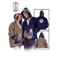 GRATEFUL DEAD TRIBAL STEAL YOUR FACE CORDUROY HOODIE