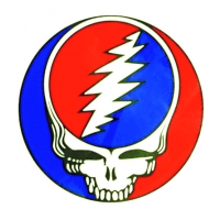 GRATEFUL DEAD XL STEAL YOUR FACE STICKER