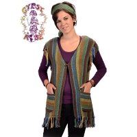 Winterland Striped Loose Weave Vest