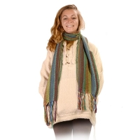 Winterland Striped Loose Weave Scarf