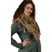Winterland Striped Loose Weave Infinity Scarf