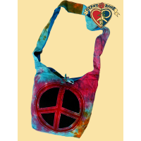 TYE DYE TRAVEL IN PEACE COTTON BAG