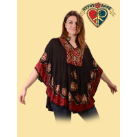 Tomorrowland Viscose Batik & Embroidered Capelet