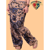 Jungle Love Print Harem Pants with Hip Zip Compartment