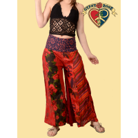 VERTICAL PATCH PALAZZO PANTS