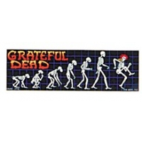 THE GRATEFUL DEAD EVOLUTION SKELETONS STICKER