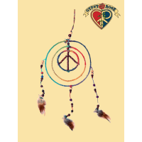 HEMP PEACE CIRCLE WITHIN A CIRCLE DREAMCATCHER