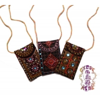Peppermint Lounge Embroidered Necklace Bag
