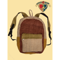 ROCKY MOUNTAIN HIGH PATCHWORK VEGETABLE DYED HEMP BACKPACK