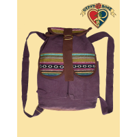 Bucket List Solid Cotton & Gheri Backpack
