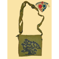 Luna Love Embroidered And Beaded  Tree Stonewashed Cotton Dj Bag