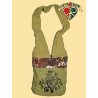Luna Love Embroidered And Beaded Cotton Lama Bag