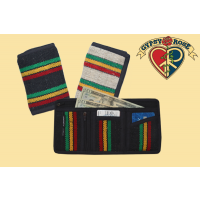 HEMP & COTTON WOVEN RASTA WALLET