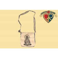 HEMP & COTTON BUDDHA W/TREE PRINT DJ BAG
