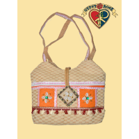 Califonia Dreaming Woven Cotton and Decorative Trim Purse