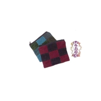 SMALL CORDUROY PATCHWORK COIN POUCH