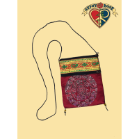 Mandala Three Pocket Embroidered Passport Pouch