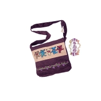 GRATEFUL DEAD CORDUROY TOTE SACK WITH DANCING BEAR EMBROIDERY