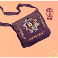 GRATEFUL DEAD CORDUROY TOTE SACK WITH STEAL YOUR FACE EMBROIDERY