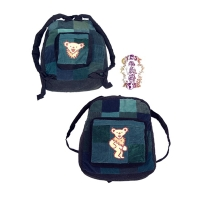 GRATEFUL DEAD PATCHWORK CORDUROY BACKPACK WITH DANCING BEAR APPLIQUE