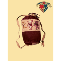 PATCH CORDUROY GRATEFUL DEAD DANCING BEAR DUFFEL BACKPACK