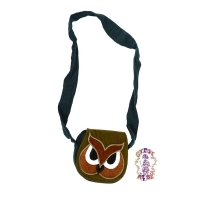 HOO BUT YOU OWL CORDUROY GUMDROP BAG