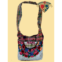 SWEET HONEY CHILD FLORAL GUIPILE SHOULDER BAG