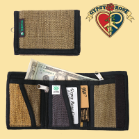 VEGETABLE DYE HEMP TRIFOLD WALLET