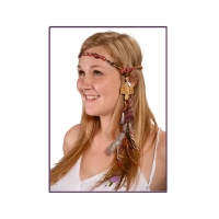 MIND OVER MATTER HEADBAND WITH BONE MUSHROOM ON HEMP & RECYCLED SILK