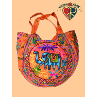 Go Your Own Way Aari Embroidered & Mirrored Elephant Shoulder Bag