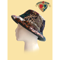 BAYOU BABE A BUCKET PATCH PRINT CORDUROY HAT