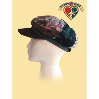 CINNAMON GIRL ADJUSTABLE PRINTED CORDUROY PATCHWORK CAP