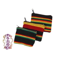 SMALL RASTA JASPE COIN PURSE