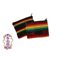 LARGE RASTA JASPE COIN PURSE
